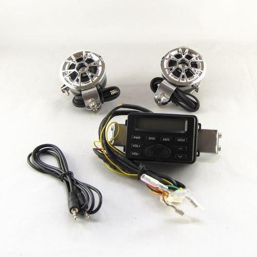 Motorrad FM Radio MP3 DC 12V + Zwei Lenker Lautsprecher