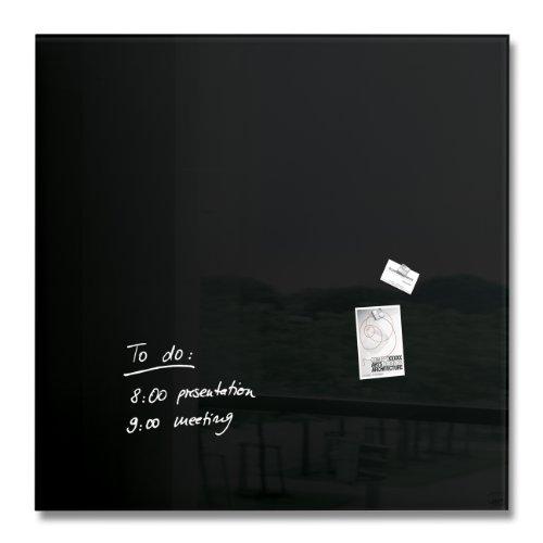 SIGEL GL200 Tableau magnétique en verre, 100 x 100 cm, noir - Artverum