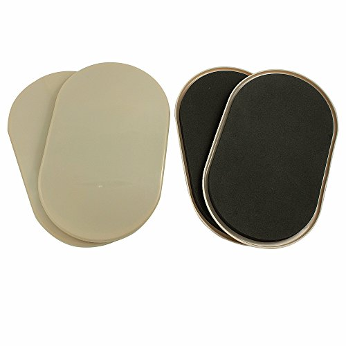 Smart Surface 8290 Large XL Reusable Oval Carpet Furniture Sliders 9-1/2' x 5-3/4' 4-Pack in Resealable Bag