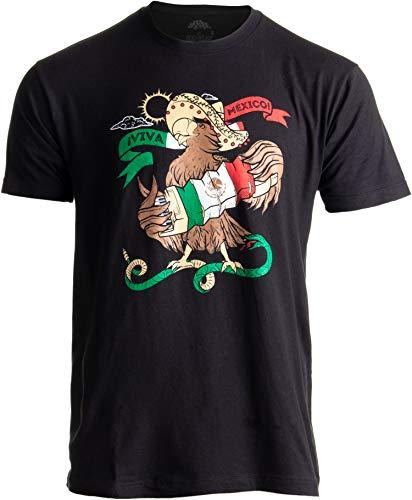 Mexican Pride | Mariachi Mexico Flag Camiseta Mexicana Funny Men Women T-Shirt-(Adult,S) Black
