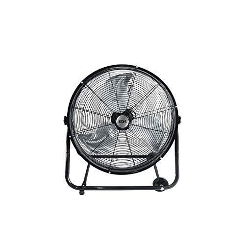 EDM 33933 Ventilador Industrial de Suelo con Ruedas 180W, Negro, 60 cm
