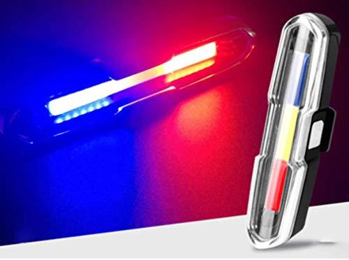 STRIDCJX Fietslampen, achterlicht, accessoires voor mountainbike-fiets, waarschuwing voor nachtvoertuig, USB, X-men – rood, wit en blauw, B