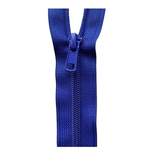 Nylon-Reißverschlüsse Nr. 5 mit automatischer Verriegelung (blau (Pfau – 223), 18 cm (geschlossenes Ende)