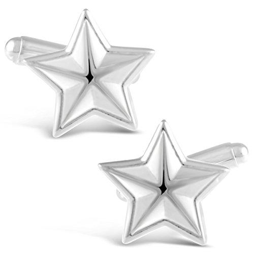 Manschettenknöpfe Sterling-Silber 925 Stern