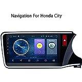 カーステレオAndroid 8.1 GPSナビゲーション、Honda City Greiz Gienia 2015-2018、10.2インチフルタッチスクリーンマルチメディアプレーヤーラジオ、BluetoothミラーリンクコントロールFM AM DAB、WIFI:1 + 16G-Option2