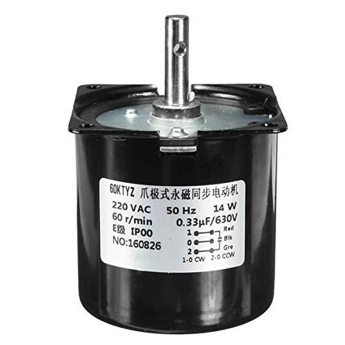 Condensadores Caja de Engranajes eléctrica de Engranajes sincrónicos Velocidad de Motor Reductor AC 220V 60RPM A60KTYZ