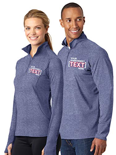 Custom Embroidered Jackets for Women & Men - Add Your Text - Lightweight Embroidery Half Zip Pullover
