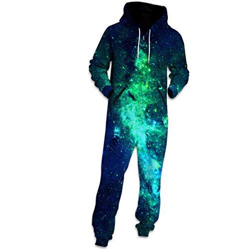 FRAUIT 3D Druck Unisex Jumpsuit Liebhaber Pyjama-Sport-Klage Hoodie-3D Jogger Kapuzenpullover Strampelanzug 3D Printed Onepiece Männer Weich Nachtwäsche Fitness Trainingsanzug