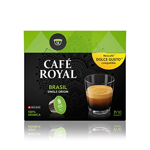Café Royal Single Origin Brazil 48 Coffee Pods Compatible with The Nescafé Dolce Gusto Systems, Pack of 3