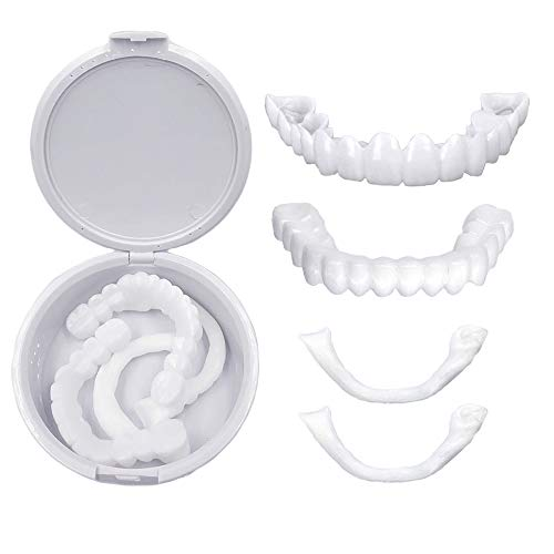 Brige Smile Veneers-Fake Teeth Veneers for Teaching and Temporary Braces Cover the Imperfect teeth for you Snap for Instant and Improve Smile