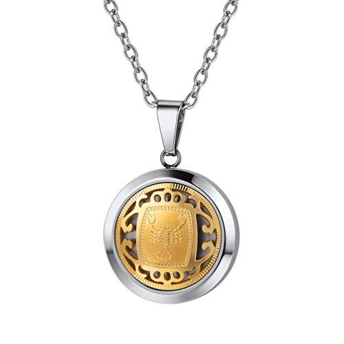 PROSTEEL Collar de horóscopo Escorpio Acero Inoxidable Chapado en Oro Regalo para Hombre Mujer