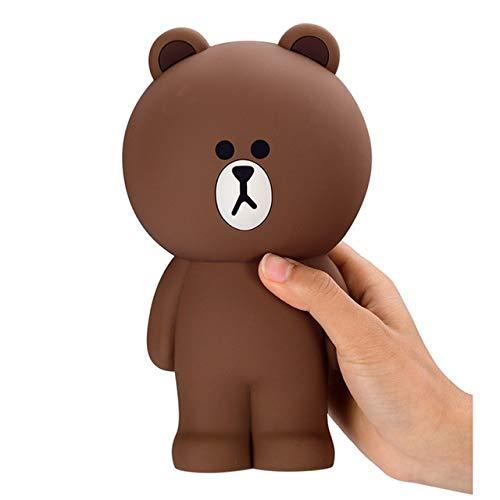 YKWYQ Federmappe Satch Karikatur-Silikon-Bleistift-Kasten-Behälter Bleistift Taschen Kawaii Nette Brown Bear Kaninchen 3D Pencilcase Schulbedarf Stationery □ (Color : Bear)
