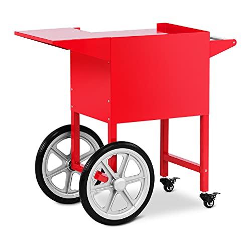 Royal Catering RCPT-16E Wagen für Popcornmaschine Popcornwagen 2 Räder Rot
