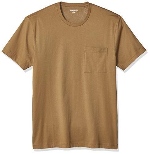 Amazon Brand - Goodthreads Men's Slim-Fit Short-Sleeve Crewneck Cotton T-Shirt, Medium Brown, X-Large