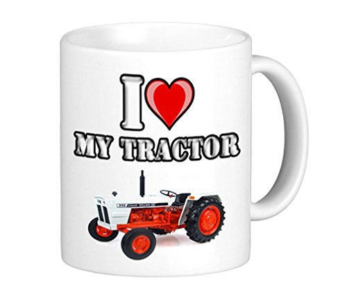 """Tasse mit Aufschrift """"I Love My David Brown 996 Vinatge Tractor"""""""