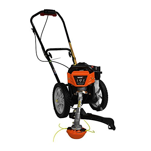 For Sale! .Powermate. 17 in. 43cc 2-Stroke Engine Walk Behind Wheeled Multi String Trimmer Mower wit...