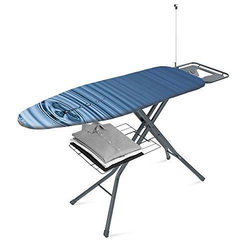 Metaltex Electra Plus - Tabla de Planchar, Tapizado Agua, 122x43cm