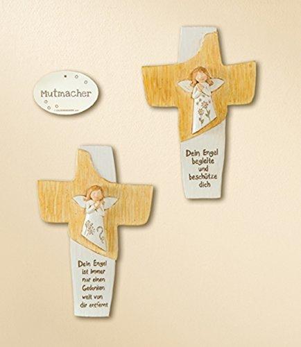 1 x Kreuz Schutzengel mit Spruch Höhe 18 cm Breite 12,5 cm Geschenk Geburt Taufe