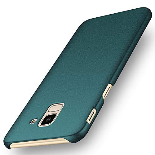 """deconext Funda Samsung J6(2018), Carcasa Ultra Slim Anti-Rasguño y Resistente Huellas Dactilares Protectora Caso de Duro Cover Case para Samsung Galaxy J6(2018) 5,6""""Arena Helada Verde"""