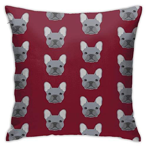 Funda de cojín Throw Cojín Throw Pillow Case Bulldog Francés Frenchie Funda de Almohada 45X45CM