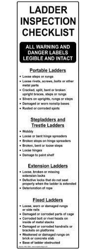 BRILLON Ladder/Scaffold inspectielijst Metaalbord, 3x12 inch