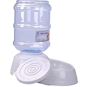 Kentop Distributeur de Nourriture Distributeur Automatique Distributeur d'eau Plat Bol alimentateur Accesoires Gamelle Animaux pour Chien Chiot Chat 3.5L