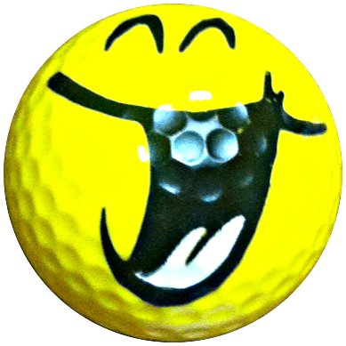 Hilarious Smiling Novelty Golf Ball