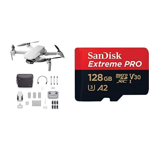 DJI Mini 2 Fly More Combo + SanDisk Extreme Pro Scheda di Memoria microSDXC da 128 GB