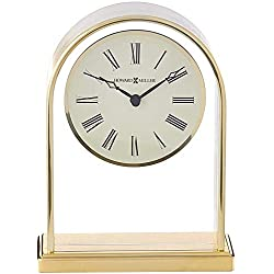 Howard Miller Reminisce Table Clock 613-118 – Brass Finish with Quartz Movement