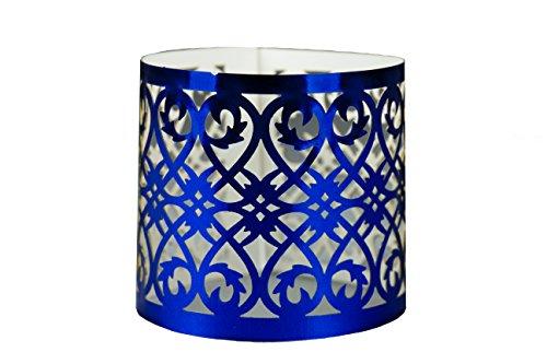 Elfenstall Servietten-Ringe in Farbe blau aus Papier für ihren festlichen Anlass 12 Stück