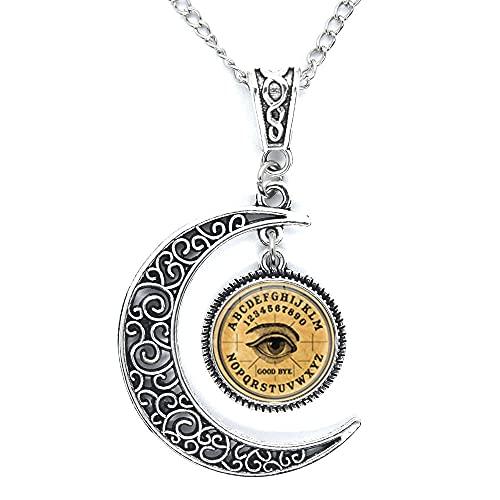 Ouija Board collar, místico, espíritus, imagen colgante hecho a mano, collar Ouija, joyería haloween N384