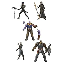 6-INCH-SCALE COLLECTIBLE THE CHILDREN OF THANOS FIGURES: Fans, collectors, and kids alike can enjoy this 6-inch-scale The Children of Thanos figure 5-pack, inspired by the characters from the Marvel Avengers: Infinity War movie INCLUDES 5 CHARACTERS ...