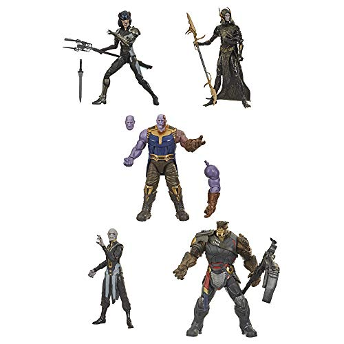 Hasbro Marvel Legends Series Toys Figura de acción Coleccionable de 15.2 cm, Paquete de 5 Figuras The Children of Thanos, 5 Figuras, diseño Premium, Edades de 4 y más