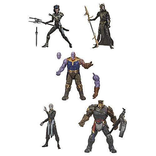 Hasbro Marvel Legends Series- Marvel Legends Series-The Children of Thanos (Action Figures 15 cm da Collezione, 5 Personaggi, Design Eccezionale), F07665S0