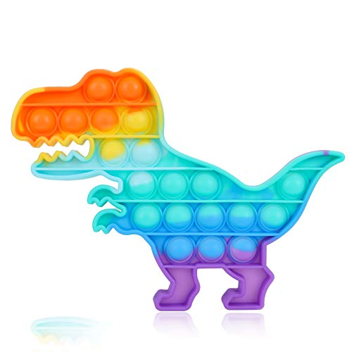 Dinosaurier-Spielzeug, Geschenke für 1–12 Jahre Mädchen Jungen, Autismus, ADHS, spezielle Bedürfnisse, Stressabbau, Silikon, zum Drücken, Blasen, Pop, Fidget sensorisches Spielzeug für Kinder