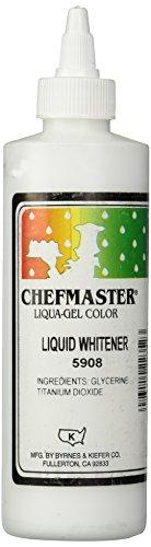 Chefmaster Liquid Whitener Food Color 16Ounce White