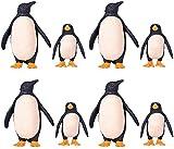 Figuras de pingüinos de 8x, papá en miniatura, pingüino y pingüino para bebés, figuras de animales antárticos realistas, modelo, niños, juguetes de aprendizaje educativo, acuario, hogar, decoración