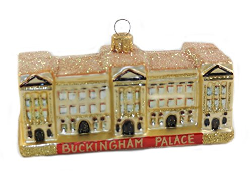London England Buckingham Palace Queen Elizabeth Polish Glass Christmas Tree Ornament Travel Souvenir