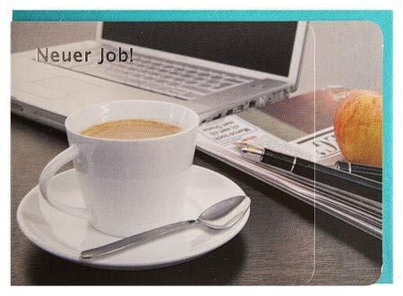 Glückwunschkarte Neuer Job Büro Kaffee A6