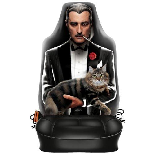 Auto Sitzbezug - Italienischer Mafia Pate - lustiger Sitzbezug mit Fotodruck Motiv - ein Hingucker mit Humor für Ihr Auto