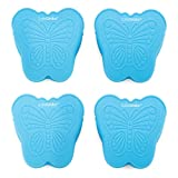 Butterfly Mitt Set from Safe Grabs as Seen on Shark Tank   Silicone Kitchen Pinch Mitts, Quick & Easy Mini Grabbers for Cooking & Baking, (BPA Free, Dishwasher Safe), 4-Piece Ocean Blue