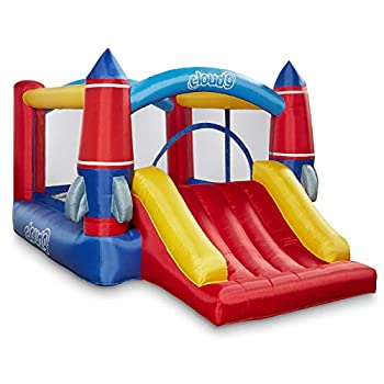 Cloud 9 Inflatable Bounce House with Slide and Blower - Rocket Theme