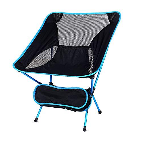 OFAY Silla De Camping Compacta - Silla De Pesca Ultraligera - Silla De Camping Plegable con Bolsa De Transporte para Acampar Al Aire Libre Picnic Barbacoa Senderismo,Sky Blue