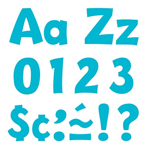 """Sky Blue 4"""" Playful Font Uppercase/Lowercase Punch-Out Ready Letters by TREND enterprises, Inc.; 216 ct."""
