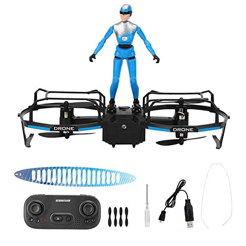 Fockety Drone RC Quadcopter Altitude Hold Mode Flight Mode Stunt Rider, Mini Quadcopter Drone, RC Flying Toy E020 2‑Axle for Indoor Outdoor(Blue)