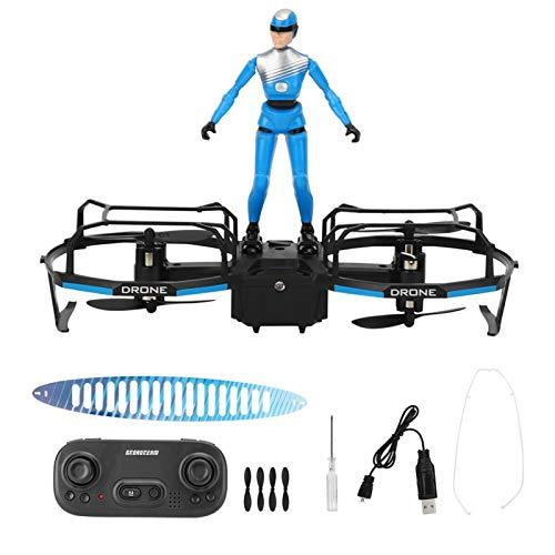 Emoshayoga RC Stunt Parapente Drone Motor sin escobillas Drone Amigos Familia Niños Niñas Educativo Padres e Hijos(Blue)