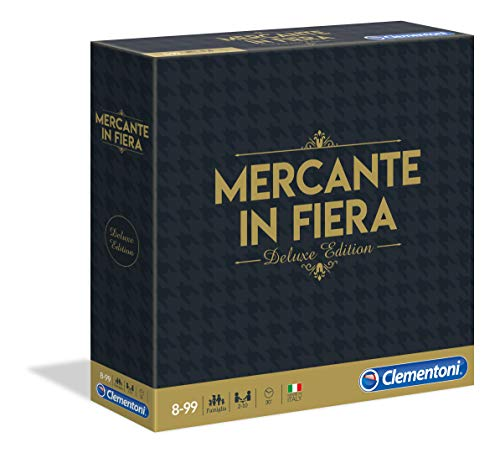 Clementoni- Mercante in Fiera Deluxe Edition Giochi da Tavolo, Multicolore, 16183
