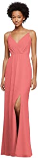 Long Bridesmaid Dress with Beaded Straps Style F19281