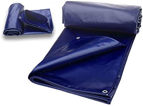 Waterdicht, zwaar zeildoek Verdikte regenbestendige doek Blauwe zonnebrandcrème Mes Schraapwagen Zeildoek Oxford doek, verschillende maten voor autotuin Dak Camouflagetent (maat: 5M * 10M)