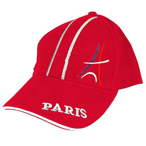 Casquette Paris Tour Eiffel Brodée - Rouge